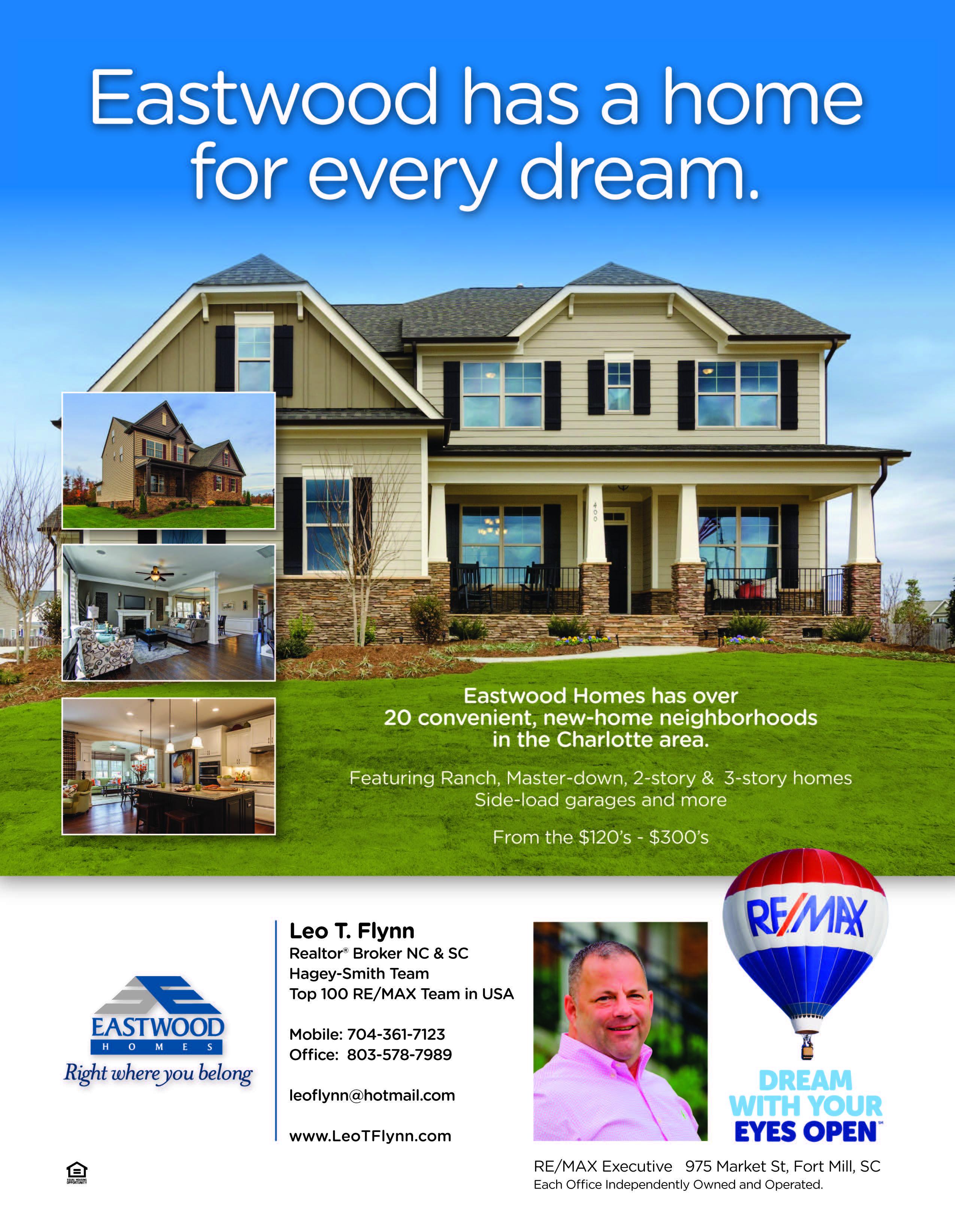 Eastwood Homes Has 20 Communities Leo T Flynn