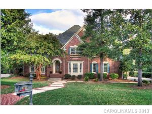 Exterior Front - Stately, Full Brick south Charlotte home in Bal
